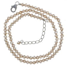 Crystal Golden Shadow, Necklace, Bicone, 4mm, Made with Swarovski Beads