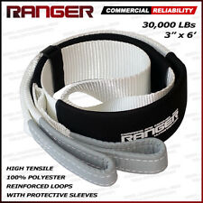 "Ranger 3"" x 6' 30,000 lbs Reinforced Tree Saver Strap for Tow Winch Recovery"