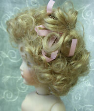 "Playhouse Doll Wig ""Vickie"" Size 12-13 - Blonde - Short & Curly w/ Pink Ribbons"