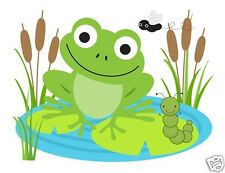 Frog Wall Mural Decals Baby Girl Boy Nursery Kids Childrens Room Stickers Decor