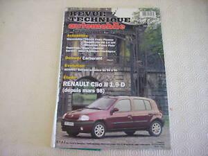 REVUE TECHNIQUE RENAULT CLIO 2  MOTEUR 1.9 DIESEL