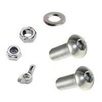 BUTTON HEAD Screw Set Bolt Nut & Washers A2 Stainless Steel Pack M3 M4 M5 M6 M8