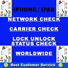IPHONE 3G 3GS 4 4S 5 7 7+ 6S 5S  NETWORK CHECK SERVICE BY IMEI ....100% CORRECT