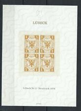 Allemagne - Bloc réimpression du timbre N°2 de Lübeck Neuf** (MNH) 1978
