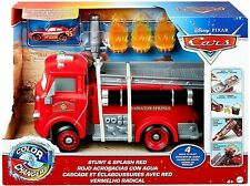 🔥NEW Disney PIXAR CARS STUNT & SPLASH RED (2 In 1) Color Changers Fire Truck RS