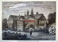 Antique 1876 'Old London' Engraved Print - 'Howard's House, Clapton, about 1800'