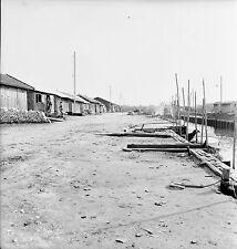 AUDENGE c. 1937 - Les Cabanes Le Port Gironde - Négatif 6 x 6 - N6 NAQ50