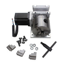 CNC Router Rotary A 4th Axis Gearbox 3 Jaw 80mm Chuck 20:1 Engraving Machine