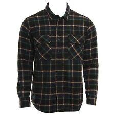 BNWT RVCA X Alex Knost New Natural L/S Plaid Shirt Pirate Medium Noir