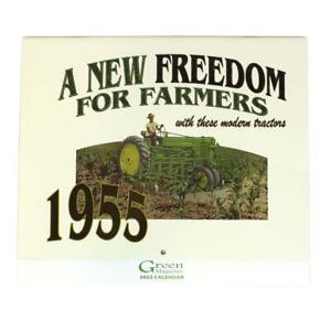 2022 Vintage John Deere 12 Month Calendar w/ Restored Deere Tractors from 1955