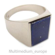 Vintage Weißgold Herren Ring Lapis Lazuli blau white gold men ring blue