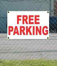 2x3 FREE PARKING Red & White Banner Sign NEW Discount Size & Price FREE SHIP