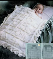 Baby Bunting 123 /& ABC Knitting Pattern