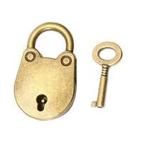 Mini Vintage Style Antique Copper Padlock Small Luggage Box Key Lock Hardware