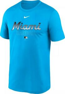 Miami Marlins Men's Nike Dri-FIT Blue Legend Tee - FREE SHIPPING!