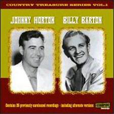 JOHNNY HORTON & BILLY BARTON Country Treasures Series CD 1950s NEW rockabilly