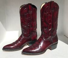 Joma Black Cherry Western Cowboy Boots, 12D