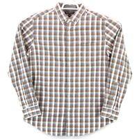 Banana Republic Men's Luxe Flannel Slim Fit LS Large Multicolor Check Shirt euc
