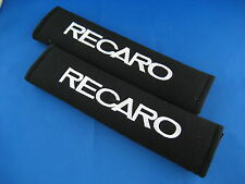 2pcs RECARO Embroidered SeatBelt Seat Shoulder Cover Pads all Vehicle