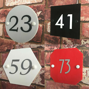 Personalised House Door Number Sign Plaque Acrylic Address Gate Modern