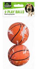2 Pack Rubber Basketball Dog Play Balls Chase Chew Fetch Bite Dog Toy Pet Dog Uk