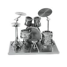 Fascinations Metal Earth 3D Laser Cut Steel Instrument Model Kit Modern Drum Set