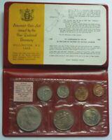 FIRST DECIMAL OFFICIAL MINT UNC SET 1967 NEW ZEALAND 7 -  SEALED in ENVELOPE