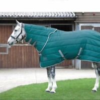 """Shires Tempest 200 Stable Rug & Detachable Neck Cover Hood Marine Green 7'0"""""""