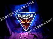 New Triumph British Automobile Man Cave REAL NEON SIGN BEER LIGHT Free Shipping
