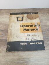 Vintage Oliver 1550 Tractor Operators Manual Service Farm Equipment