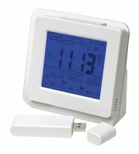 Wireless Weather Station, de 4 días de previsiones, Reloj, Alarma, Fecha, Live Blanco BNIB
