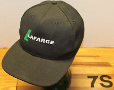 NICE LAFARGE ADJUSTABLE HAT BLACK IN VERY GOOD CONDITION USA MADE