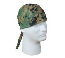 Digital Woodland Jungle Camo Durag Head Wrap Skull Cap Hunting Military Tactical