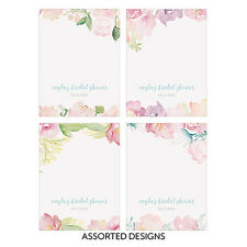 24 Assorted Garden Party Floral Personalized Wedding Place Cards