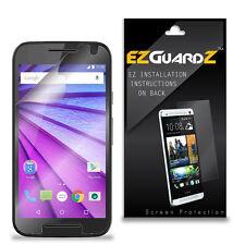 4X EZguardz Screen Protector Skin HD 4X For Motorola Moto G 3rd Gen 2015 (Clear)