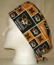 Surgical Scrub Hat Cap Made w University of Missouri Mizzou Fabric Nurse Chemo