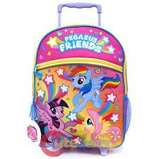 "My Little Pony 16"" Large School Roller Backpack Pegasus Rolling Bag Trolley"