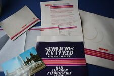 VINTAGE IBERIA AIRLINES IN FLIGHT SERVICE / DUTY FREE / POSTCARDS ~ 1974