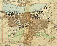 1891 VICTORIAN MAP STREET PLAN LONDON WOOLWOCH ROYAL ARTILLERY BARRACKS DOCKYARD