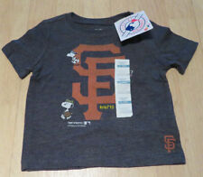 Old Navy San Francisco Giants Snoopy T-shirt Toddler Boys 12-18M Gray Baseball