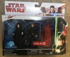 Star Wars Force Link 3 Pack Luke Skywalker, Emperor Palpatine, and Royal Guard