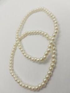 Fashion jewellery Bracelet Set Of  2 Pearl Strechy Style Bracelets