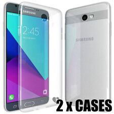 2 x CASES total - Transparent Clear Soft Rubber Case for SAMSUNG GALAXY J7 2017s