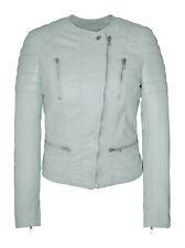 Muubaa Tagus Mint Leather Biker Jacket. RRP £375. M0487. UK 8. BNWT.