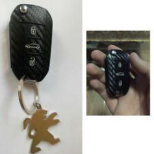 Car Carbon Fiber Style Key Cover Sticker Fits For 508 408 308 3008 301 2008