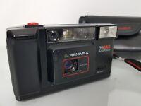 Vintage Hanimex 35RAS Auto Focus Vintage 35mm Film Camera with Case & Strap