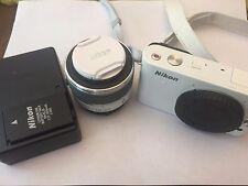 Nikon 1 J1 10.1 MP Mirrorless Digital Camera - White (Kit w/10-30mm Lens)