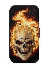 HTC ONE Skull Schädel Flipcase Tasche Flip Hülle Case Cover Schutz Handy