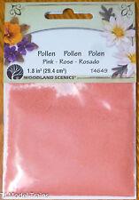 Woodland Scenics #4649 Paper Flower Pollen - 1.8 Cu In. 29.4 Cu Cm. -- Pink