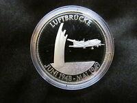 Medaille Deutschland Luftbrücke Silber 999 PP Gedenkprägung